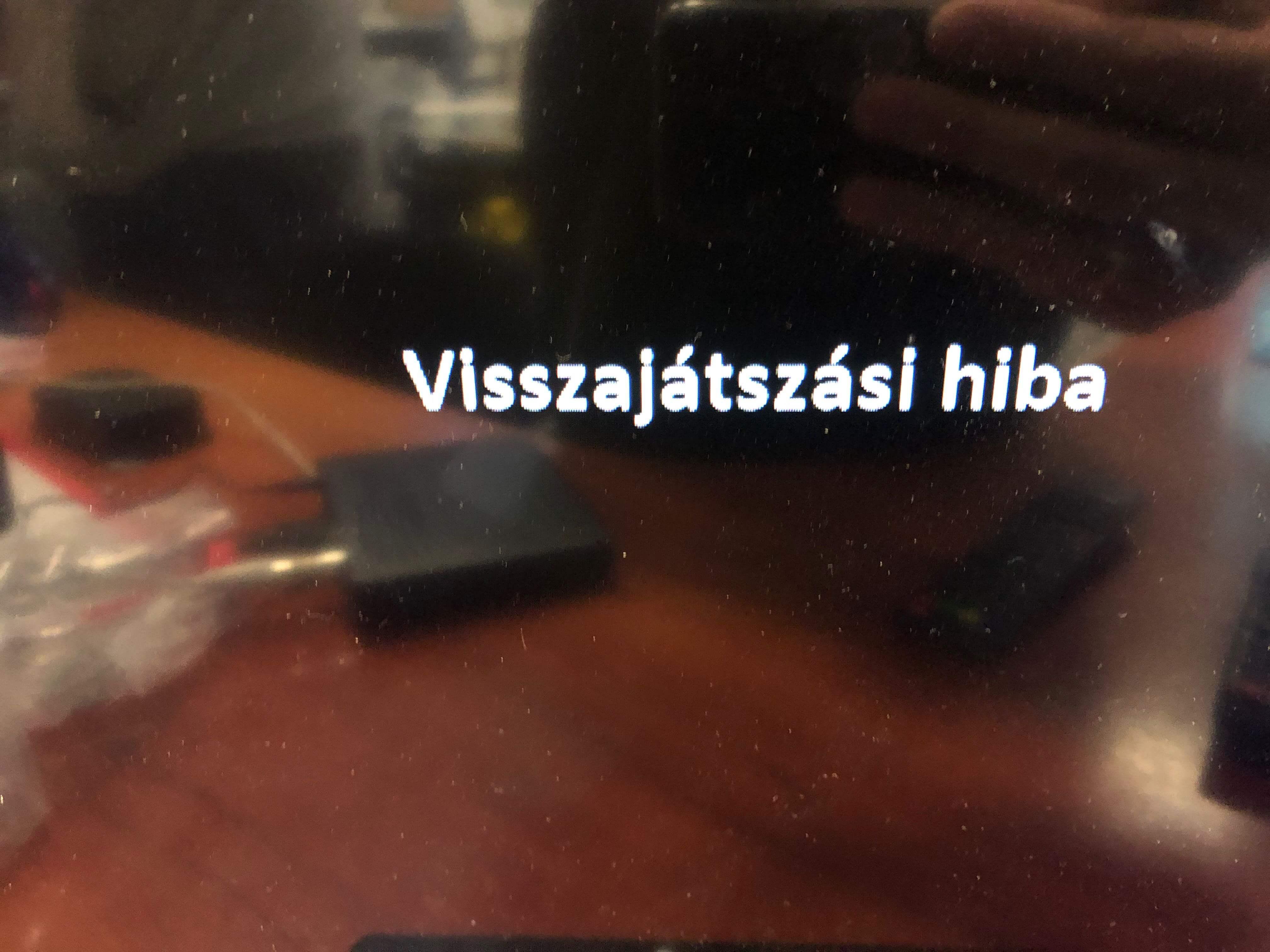 Mindig TV beltéri egység hibaüzenete gyenge jel esetén